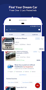 screenshot of PakWheels: Buy & Sell Cars, Bikes and Auto Parts version 11.0.2