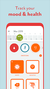 screenshot of Period Tracker Clue - Ovulation and Cycle Calendar version 5.19.0