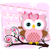 Pink Owl Keyboard Theme