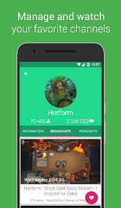 screenshot of Pocket Plays for Twitch version 1.6.8