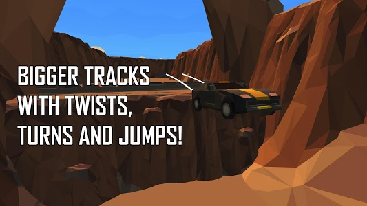screenshot of Poly Drift 2: Time Travel Racer version 1.1