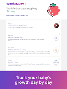 screenshot of Pregnancy & Baby Tracker version Varies with device