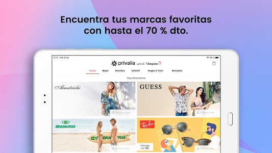 screenshot of Privalia - Outlet de moda con ofertas de hasta 70% version 4.17.0