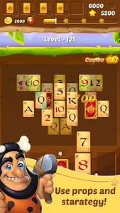 screenshot of Pyramid Solitaire Stone Age version 1.1.3