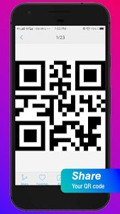 screenshot of QR Scanner Pro Free version 1.4