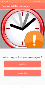 screenshot of Recover deleted messages version 3.4