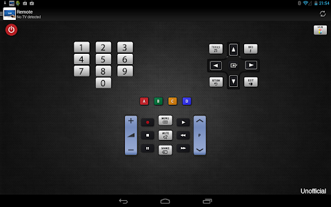 screenshot of Remote for Samsung TV version 4.6.2