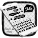 SMS Black White Keyboard