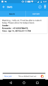 screenshot of SMS Forwarder: Messaging and More version 2.7