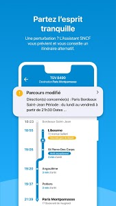 screenshot of SNCF version Varies with device