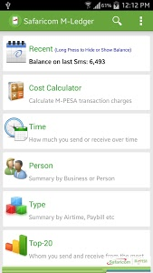 screenshot of Safaricom M-Ledger version 5.0
