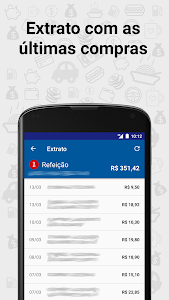 screenshot of Saldo Cartões version 4.1