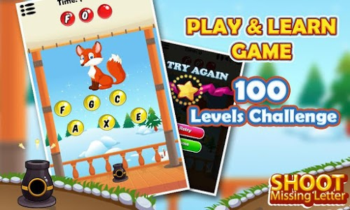 screenshot of Shoot Missing Letters version 1.3