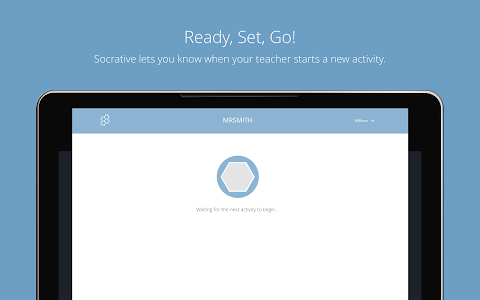 screenshot of Socrative Student version 4.4.1