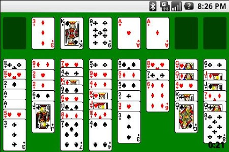 screenshot of Solitaire version 1.12.2