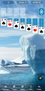 screenshot of Solitaire version 1.8