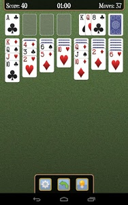 screenshot of Solitaire version 4.4.6