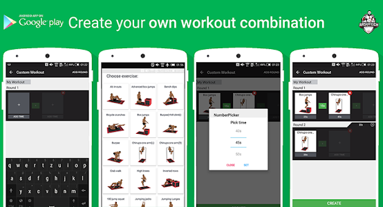 screenshot of Home Workout MMA Spartan Free - Body Weight version 3.0.8