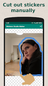screenshot of Sticker Maker for WhatsApp (WAStickerApps) version 100