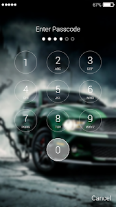 screenshot of Street Racing Lock Screen version 1.0