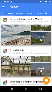 screenshot of Google Street View version Varies with device