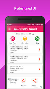 screenshot of SuperTatkal Pro - IRCTC Tatkal Train Ticket version Varies with device