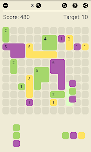 screenshot of Surface Trimino: increase the area. Casual game. version v1.0.11