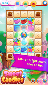 screenshot of Sweet Candies 2 - Chocolate Cookie Candy Match 3 version 2.0