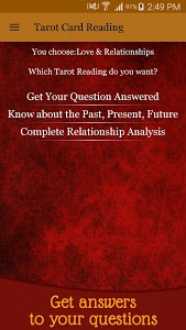 screenshot of Tarot Card Reading - Love & Future Daily Horoscope version 5.7
