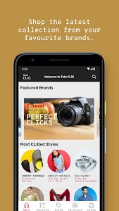 screenshot of Tata CLiQ Online Shopping App India version 10.3
