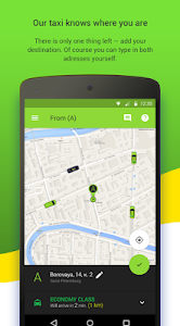 screenshot of TaxovichkoF: order a taxi in St Petersburg online version 1.46