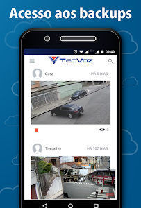 screenshot of Tecvoz Nuvem version 5.0.2