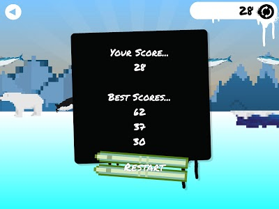 screenshot of The Skiing Penguin version 1.0