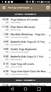 screenshot of The Yoga Center Kuwait version 4.2.9