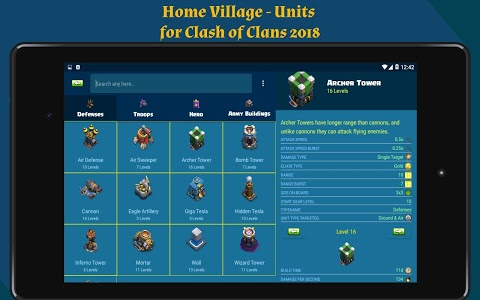 screenshot of Toolkit for Clash of Clans 2018 version 1.4
