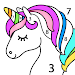 Unicorn Color by Number – Unicorn Coloring Book