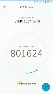 screenshot of VIP Access version Varies with device