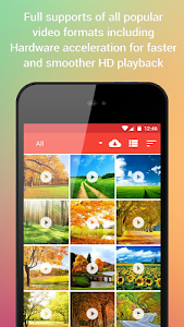 screenshot of Video Player for Android version 3.6