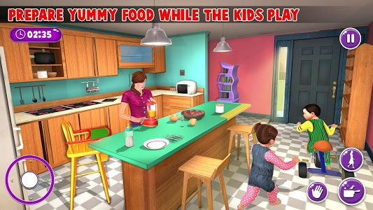 screenshot of Virtual Mother New Baby Twins Family Simulator version 2.0.6