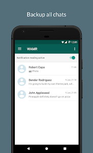 screenshot of WAMR - Recover deleted messages & status download version 0.10.2