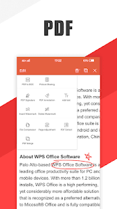 screenshot of WPS Office - Word, Docs, PDF, Note, Slide & Sheet version 12.3.4
