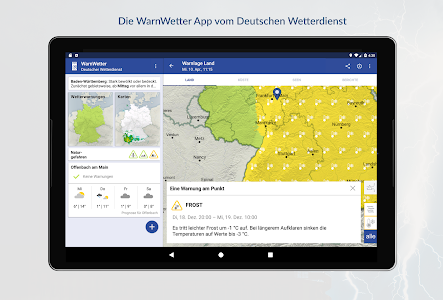 screenshot of WarnWetter version Varies with device