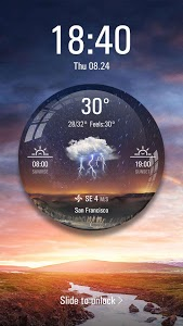screenshot of Weather Ball Lock Screen App version 9.3.0.2035_master