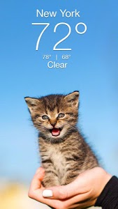 screenshot of Weather Kitty - Forecast, Radar & Cat Pictures version Varies with device