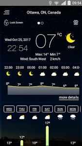 screenshot of Weather forecast version 38
