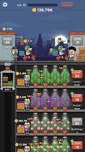 screenshot of Weed Factory Idle version 1.12.3