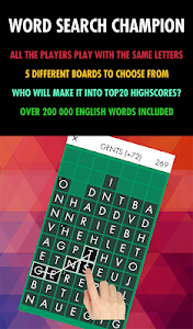 screenshot of Word Search Champion - Free version 5