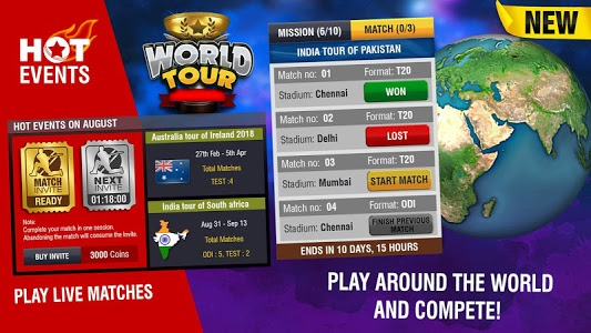 screenshot of World Cricket Championship 2 - WCC2 version 2.8.6.5
