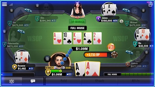screenshot of World Series of Poker – WSOP Free Texas Holdem version 5.4.0