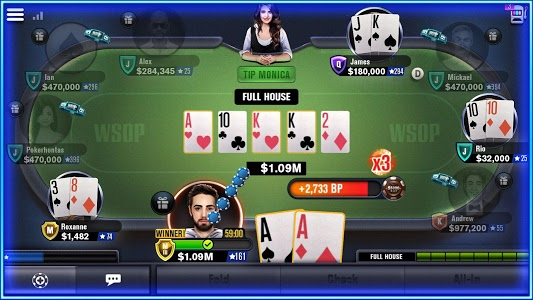screenshot of World Series of Poker – WSOP Free Texas Holdem version 5.13.8